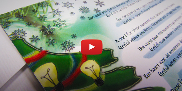 video about a christmas card with magnetic effect